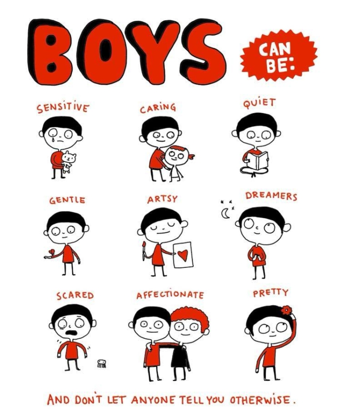 Boys can be: